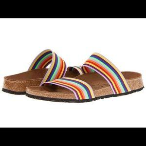 Birkenstock BIRKIS Curacao Rainbow Stripe Sandals